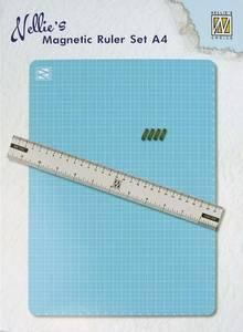 Bilde av Nellie Snellen - Magnetic Ruler Set A4 - cutting mat