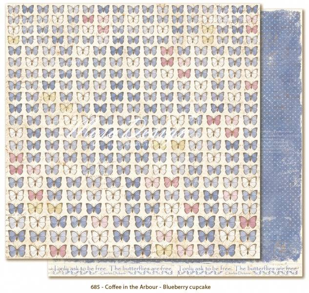 MAJA DESIGN - 684 - Coffee in the Arbour - BUTTERFLIES ARE FREE