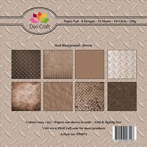 Bilde av Dixi Craft - Paper Pad 15x15 - 071 - Steel Background - Brown