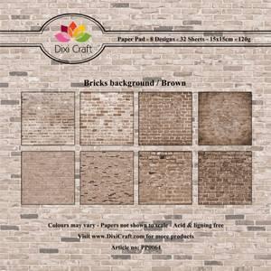 Bilde av Dixi Craft - Paper Pad 15x15 - 064 - Bricks Background - Brown