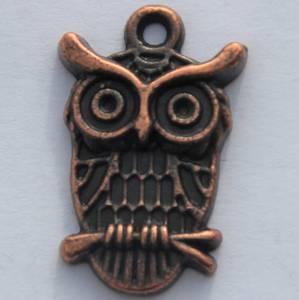 Bilde av Charms - Ugle på liten gren - Kobber - 6 stk