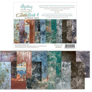 Bilde av Mintay - 6x8 paper pad - Basic Book 04 - Backgrounds - Grunge