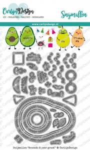Bilde av CarlijnDesign - Dies - 0084 - Avocado & Pear Large