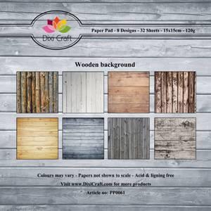 Bilde av Dixi Craft - Paper Pad 15x15 - 061 - Wooden Background