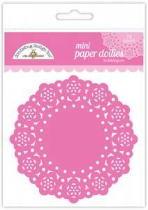 Bilde av Doodlebug Design - 4597 - Mini Paper Doilies - Bubblegum - 75stk