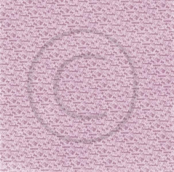 Papirdesign PD18442 - Velkommen lille venn 2 - Barnedåp, rosa