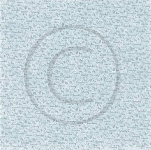 Papirdesign PD18443 - Velkommen lille venn 2 - Barnedåp, blå
