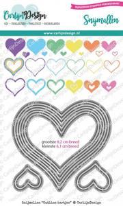 Bilde av CarlijnDesign - Dies - 0086 - Outline Hearts