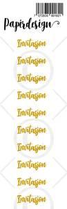 Bilde av Papirdesign - Transparent Stickers - 1900182 - Invitasjon, gull