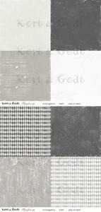 Bilde av Kort & Godt - Mønsterpapir 107452 - Symfoni grå - 0482