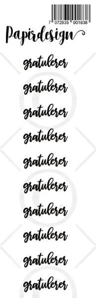 Papirdesign - Transparent Stickers - 1900183 - Gratulerer 2