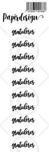 Bilde av Papirdesign - Transparent Stickers - 1900183 - Gratulerer 2
