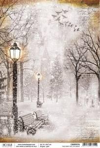 Bilde av Ciao Bella - Rice Paper Sheet A4 - First Fall Of Snow