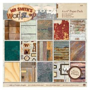 Bilde av Papermania - 6x6 Paper Pack - Mr Smith's Workshop