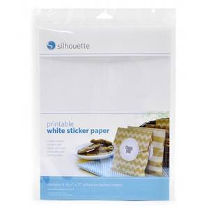 Bilde av Silhouette Sticker paper hvit