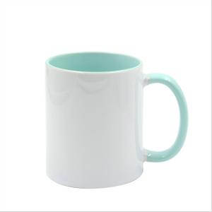 Bilde av Two tone mint/hvit kopp
