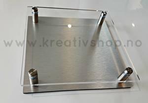 Bilde av Skilt blank + plate 18 x18 cm