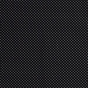 Bilde av Bomullspoplin prikker svart