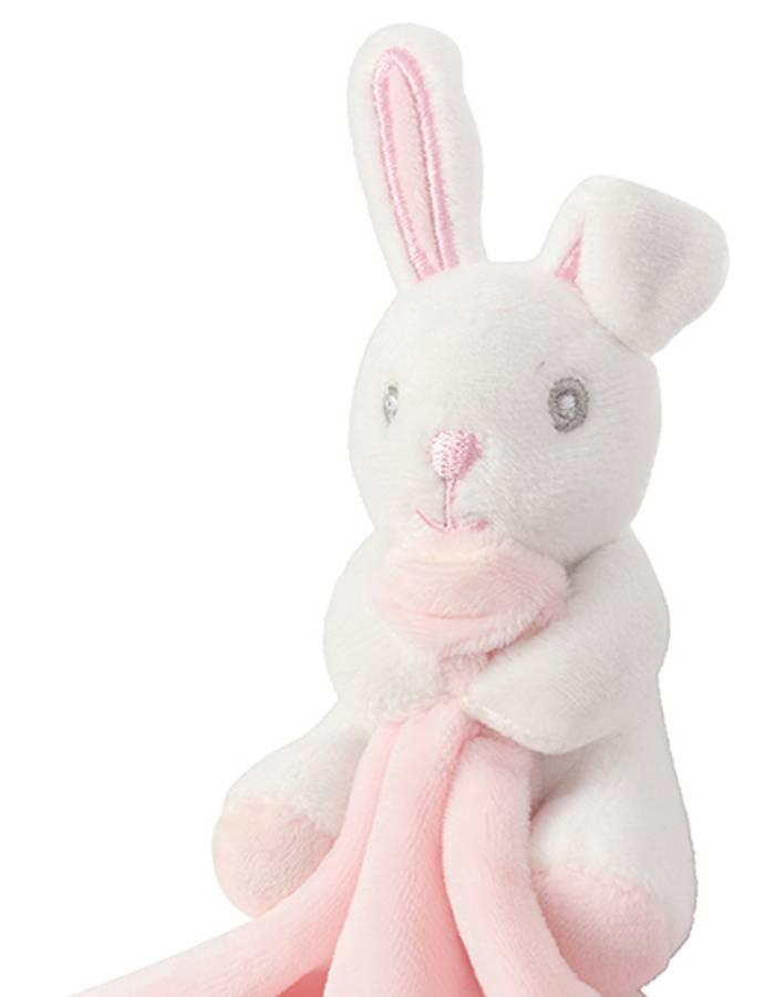 Koseklut Rosa kanin med rangle