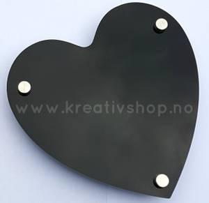 Bilde av Skilt svart hjerte