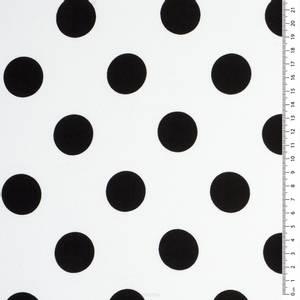 Bilde av Vevet viskose prikker hvit
