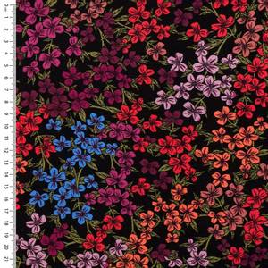 Bilde av Viskose fargerike blomster