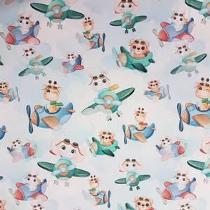 Bilde av Vevet bomull - Dyr i fly