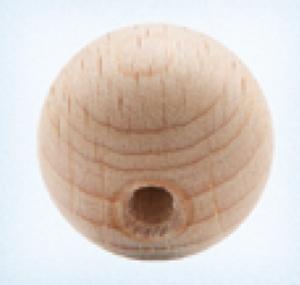 Bilde av Rund 15 mm treperle trefarget