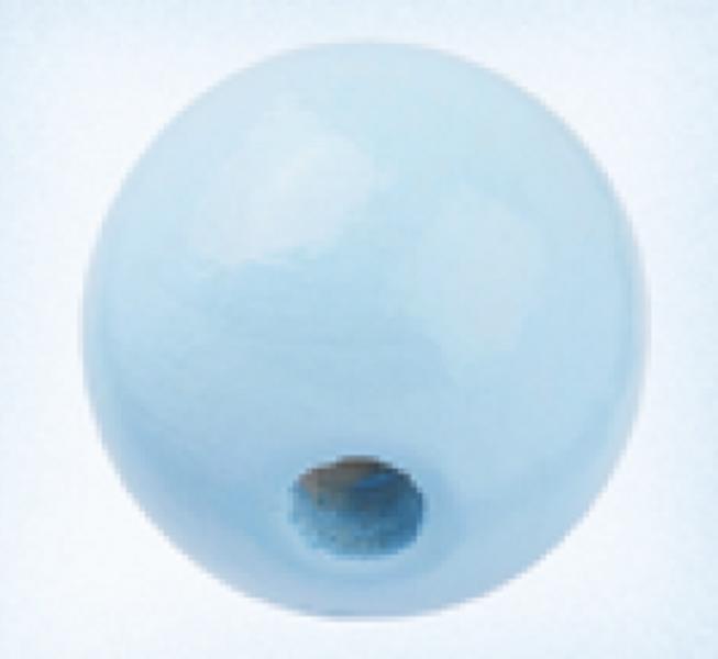Rund 15 mm treperle lysblå 12pk