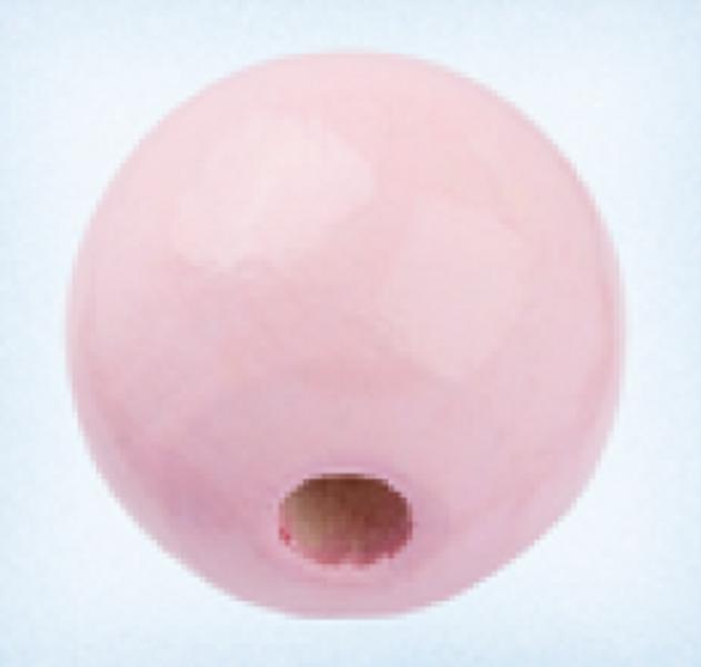 Rund 15 mm treperle lysrosa 12pk