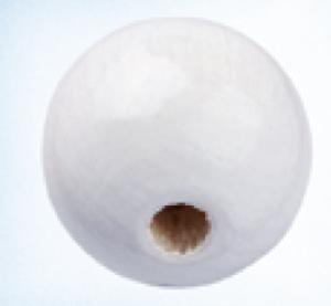 Bilde av Linse 10 mm treperle hvit 15