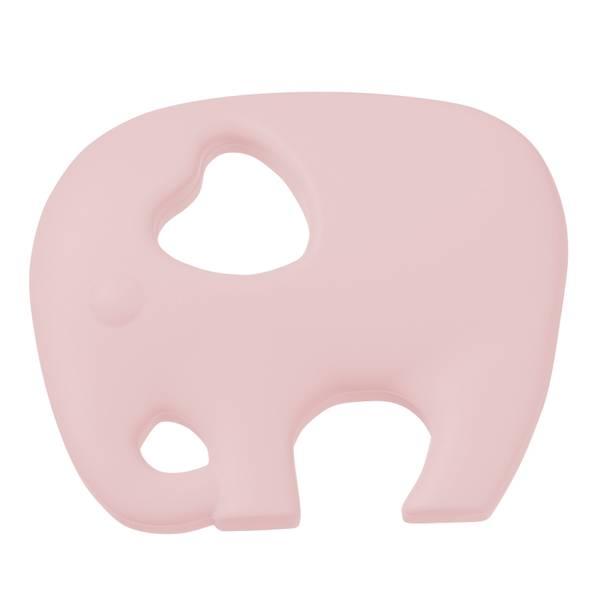 Silikonfigur elefant lysrosa 1pk