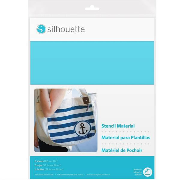 Silhouette Stencil Material - Med lim