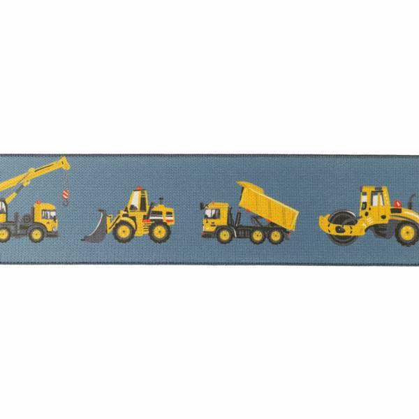 Elastikk anleggsmaskiner 4 cm - per meter