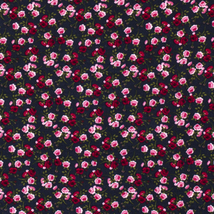 Bilde av Musselin Flowers print navy