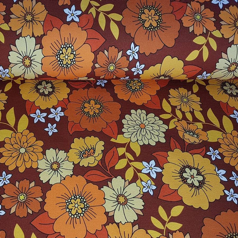 Jersey Tyra - brun & oransje