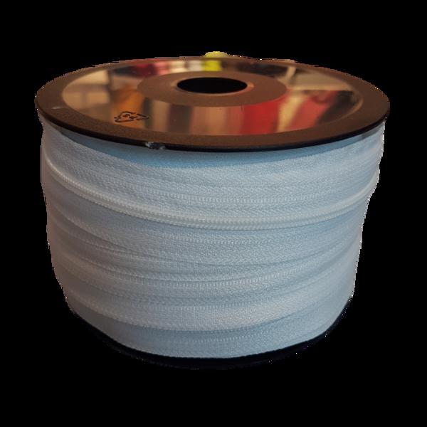 HVIT 4 mm spiral glidelås - på rull