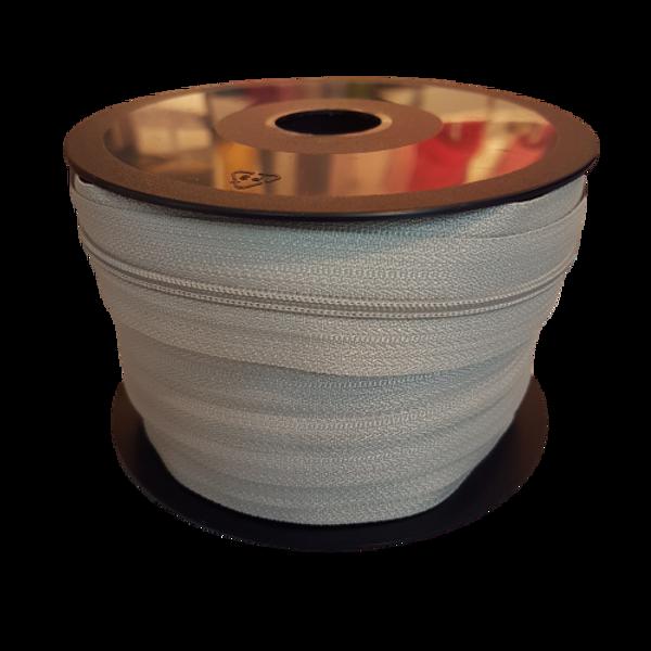 LYSGRÅ 4 mm spiral glidelås - på rull