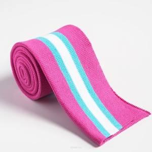 Bilde av Brettet ribb - rosa, turkis,