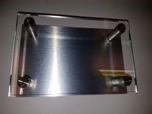 Bilde av Skilt blank + plate 15 x 10cm
