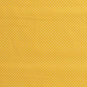 Bilde av Bomullspoplin prikker gul