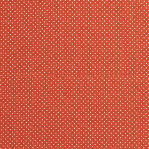 Bilde av Bomullspoplin prikker oransje