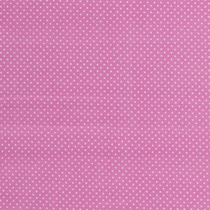 Bilde av Bomullspoplin prikker rosa
