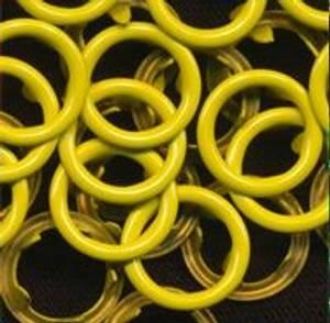 Bilde av Kam metallring 25 stk gul