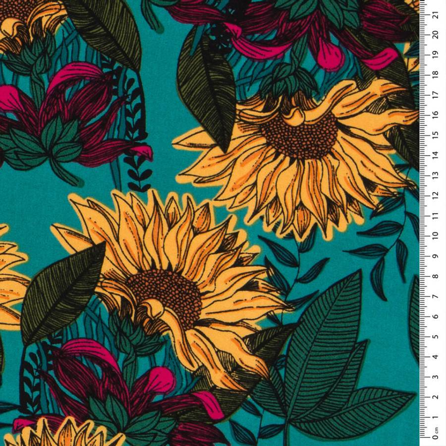 Vevet viskose Sunflowers