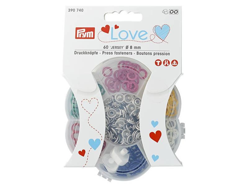 Prym Love Trykknapper ring 8 mm 60 stk