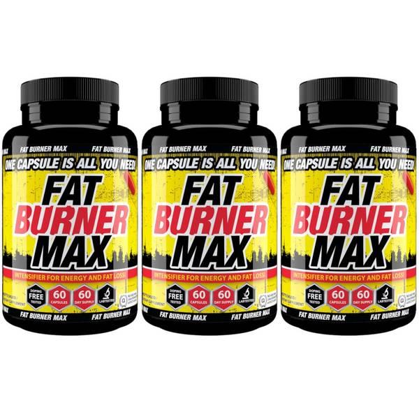 Bilde av 3-Pack Fat Burner MAX - 6 mnd forbruk