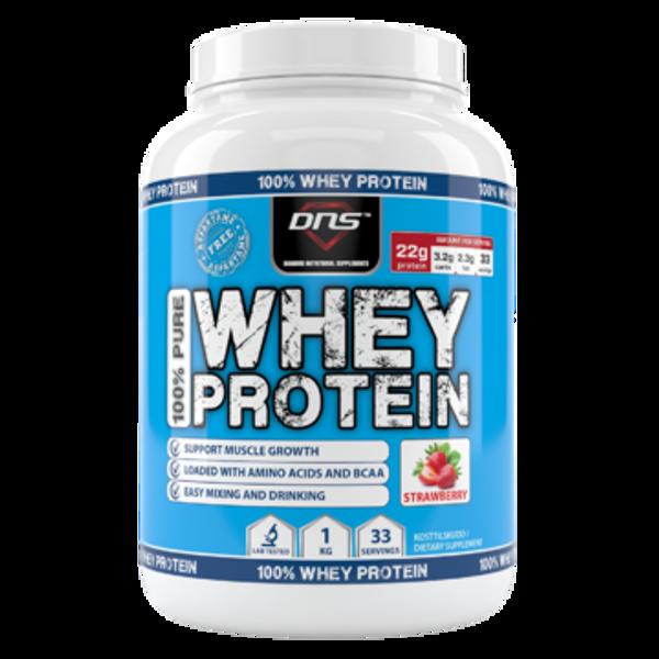 Bilde av 100% Pure Whey Protein Jordbær 1 kg