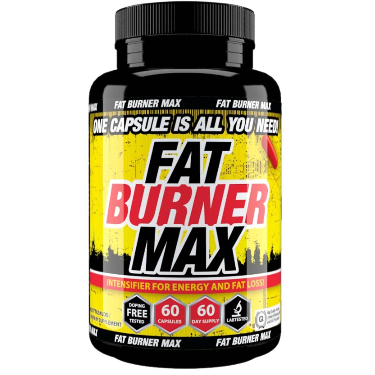 Fat Burner MAX 60 kapsler - 2 mnd forbruk