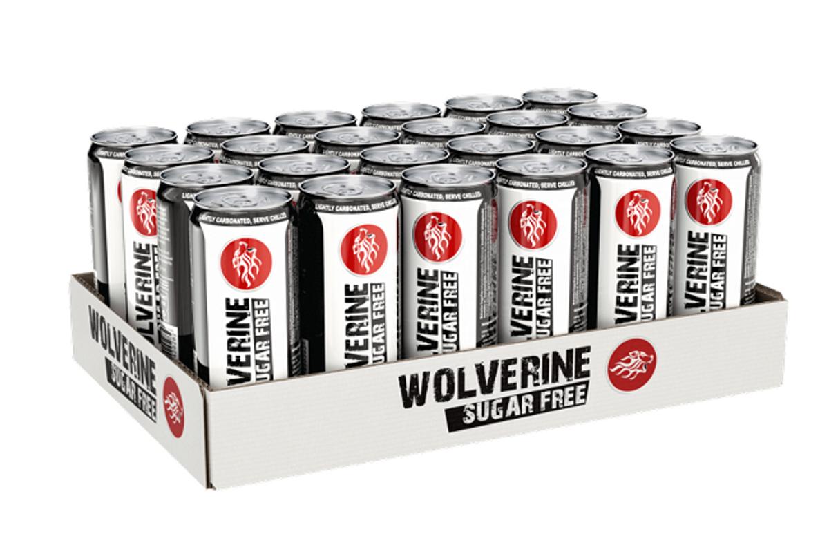 Wolverine Energy Drink Sugar Free - 24x 250ml